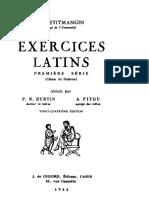 Exercices latins. Première série.