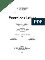 Exercices latins. Première série. Livre du maître