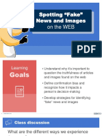 Spotting Fake News and Images PPT
