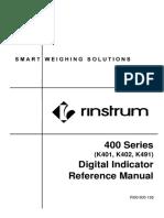 Manual Book Rinstrum r400 Series