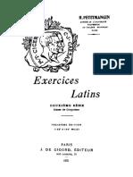 Exercices latins. Deuxième série.