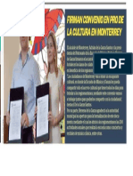 20-06-19 FIRMAN CONVENIO EN PRO DE LA CULTURA EN MONTERREY