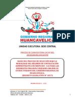 BASES DE CAS N° 005-2019 DE LA SEDE CENTRAL DEL GOBIERNO REGIONAL DE HUANCAVELICA.
