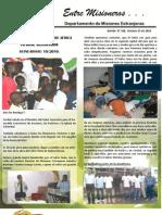 Boletin 188 Informe Misionero Guinea Bissau Octubre 25 2010