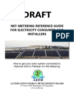 Draft Net Metering Guidelines for Consumers and Installers