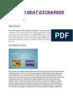 Micro Heat Exchanger