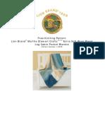 Knit Pattern Log Cabin Pocket Blankie L10678 1