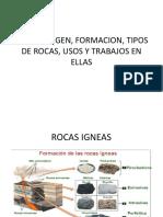 01_Rocas Origen, Formación, Tipos de Rocas, Usos Y Precauciones.pptx