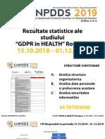 Rezultate Statistice GDPR- HEALTH