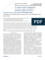 The Comparative study of ICT equipment preventive maintenance with Corrective maintenances