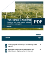 Evolution of Wind Energy Markets and Implications for Manufacturers & Suppliers_From_Pioneer_to_Mainstream_Feb 2010_32 Pages