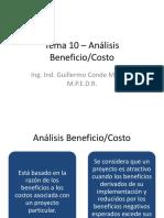Tema 10 – Análisis BeneficioCosto