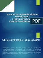 Innovaciones Jurisprudenciales en Materia Penal, CORTE de CONSTITUCIONALIDAD