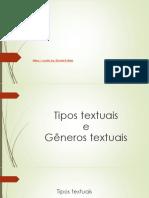 Generos e Tipos Textuais