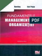 1. Burdus, E. - Fundamentele Managementului Organizatiei, 2013