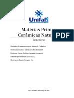 Seminário - Processamento de Materiais Cerâmicos