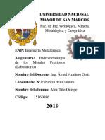Informe 2 - Pureza Del Cianuro