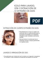 13. Lavado Ocular e Irrigación