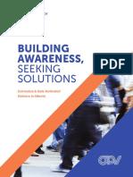 Building Awareness, Seeking Solutions