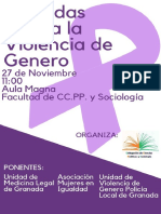 Jornada Violencia Género. 27-Nov