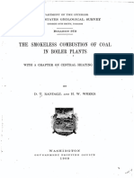 THE SMOKELESS COMBUSTION OF COAL