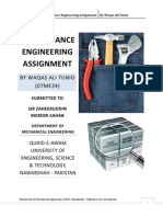 Maintenance Engineering Assignment by Waqas Ali Tunio (Nov. 6th, 2010)