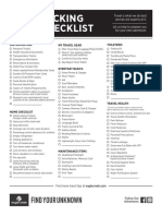 2019 Packing Checklist