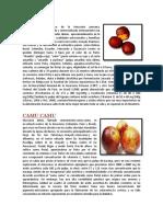 Aguaje y Camu Camu