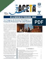 Gaceta de La Facultad de Psicologia UNAM Anio 19 Vol 19 No 371 24 de Mayo de 2019