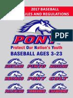 2017 Pony Baseball Rulebook (Spanish)