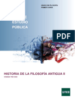 Historia de La Filosofía Antigua II 2019-20