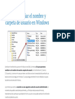 Como Cambiar El Nombre y Carpeta de Usuario en Windows