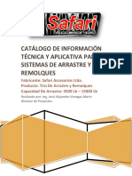 Catálogo de Información Técnica y Aplicativa Para Tiros de Arrastre y Remolques