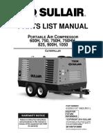 Sullair 750 Parts Manual