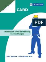 Customer Rate Card