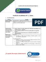 Construcción de Instrumentos Psicológicos Producto Académico N°3