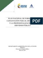Plan Nacional de Formacio´n y Capacitacio´n 28-03-2017