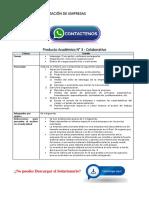 Dirección y Organización de Empresas Producto Académico N°3
