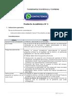 Fundamentos Económicos y Contables Producto Académico N°3