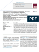 Impact of Antipsychotic Medication on Transcranial Direct Current Stimulation (TDCS) Effects in Schizophrenia Patients