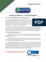 GEOMETRÍA DESCRIPTIVA Producto Académico N°3