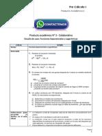 Pre Cálculo I Producto Académico N°3