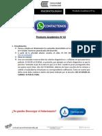 Psicopatología II Producto Académico N°3