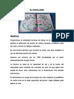 EL PUNTILLISMO+trabajo de manualidades