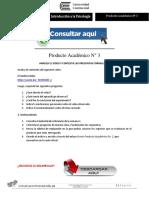 INTRODUCCIÓN A LA PSICOLOGÍA PRODUCTO ACADÉMICO N°3