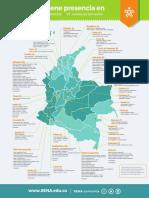 Mapa Sedes SENA 2018