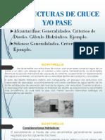 ESTRUCTURAS DE CRUCE Y/O PASE