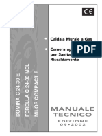 Ferroli Manuale Tecnico Caldaia Murale Gas Domina Ferella Milos Compact