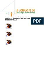 II Jornadas en Psicologìa Organizacional