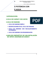 Tema 7. Ciclos de Potencia Con Vapor de Agua
